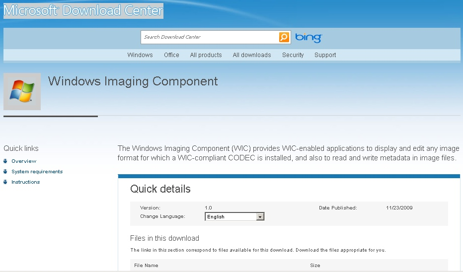 component wic